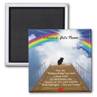 Rainbow Bridge Poem for Hamsters Square Magnet