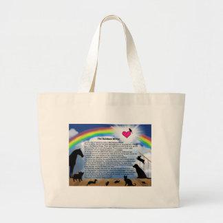 Rainbow Bridge Poem Jumbo Tote Bag