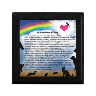 Rainbow Bridge Poem Small Square Gift Box