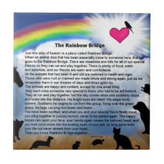 Rainbow Bridge Poem Small Square Tile