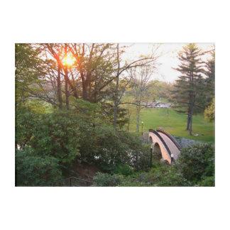 Rainbow Bridge Sunset at Grove City College Acrylic Print