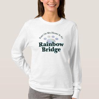 Rainbow Bridge With Paw Long Sleeve Tee For Women