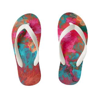 Rainbow bright colorful gradient pattern kid's thongs