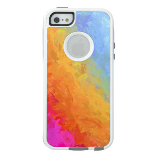 Rainbow bright colorful gradient pattern OtterBox iPhone 5/5s/SE case