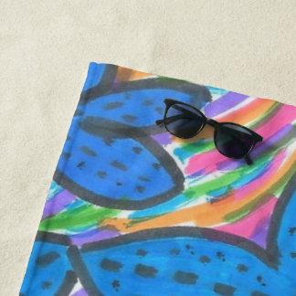 Rainbow Bright Starfish Beach Towel