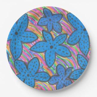 Rainbow Bright Starfish Paper Plates