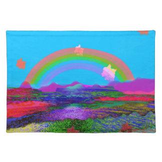 Rainbow brings diversity placemat