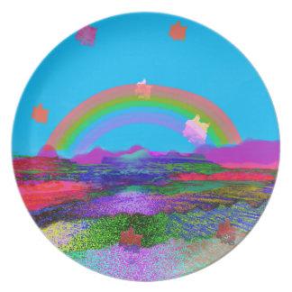 Rainbow brings diversity plate