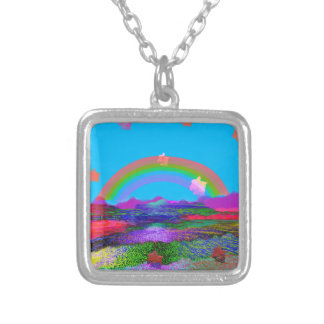 Rainbow brings diversity silver plated necklace