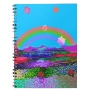 Rainbow brings diversity spiral notebook