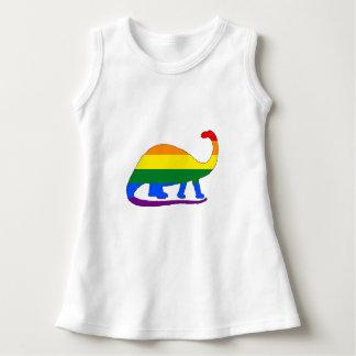 Rainbow Brontosaurus Dress