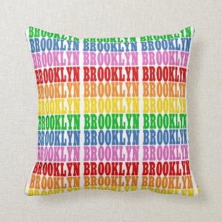 Rainbow Brooklyn Throw Pillow