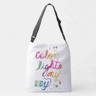 Rainbow Brush Script Hand Lettering Colourful Crossbody Bag