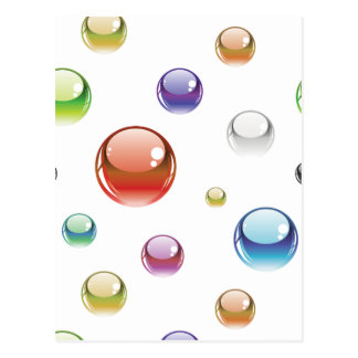 Rainbow Bubble Pattern Postcard
