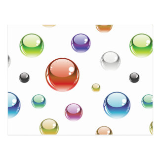 Rainbow Bubble Pattern Postcard