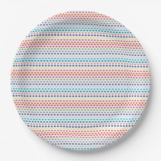 Rainbow Bubbles 9 Inch Paper Plate