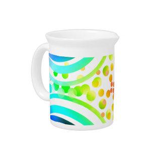 Rainbow Bubbles Color Field Bright Beautiful Vivid Beverage Pitcher