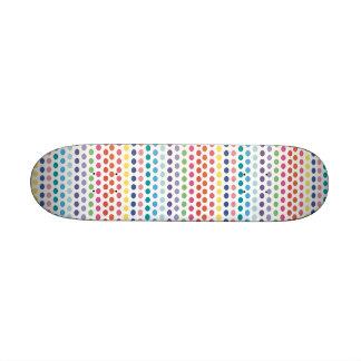 Rainbow Bubbles Custom Skate Board