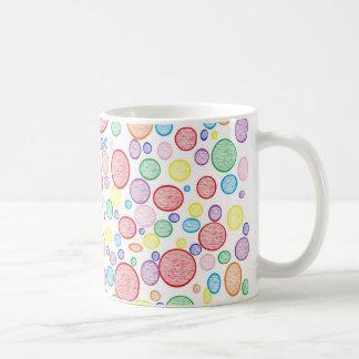 Rainbow Bubbles Lightened Coffee Mug