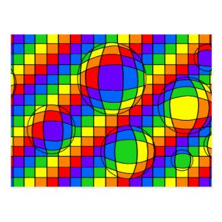 Rainbow Bubbles Postcard