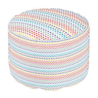 Rainbow Bubbles Pouf