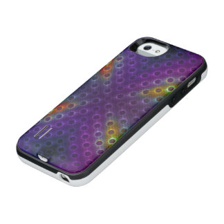Rainbow Bubblewrap Fractal Disco Lights iPhone SE/5/5s Battery Case