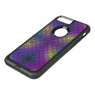 Rainbow Bubblewrap Fractal Disco Lights OtterBox Commuter iPhone 8 Plus/7 Plus Case