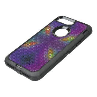Rainbow Bubblewrap Fractal Disco Lights OtterBox Defender iPhone 8 Plus/7 Plus Case