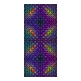 Rainbow Bubblewrap Fractal Disco Lights Rack Card