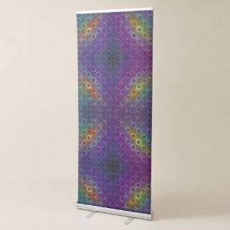 Rainbow Bubblewrap Fractal Disco Lights Retractable Banner