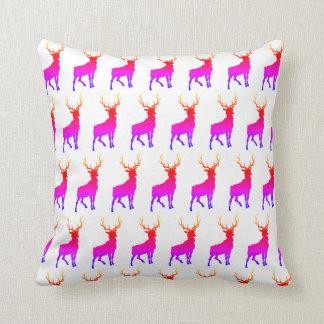 Rainbow Buck Throw Pillow