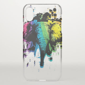 Rainbow Bull Elephant Abstract iPhone X Case