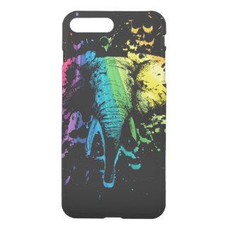 Rainbow Bull Elephant on Black iPhone 8 Plus/7 Plus Case