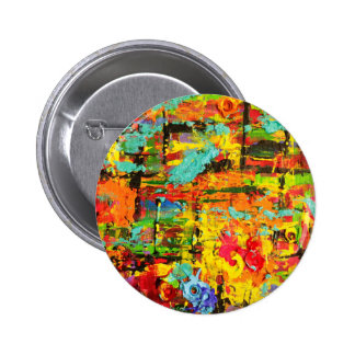 Rainbow Bullets 6 Cm Round Badge