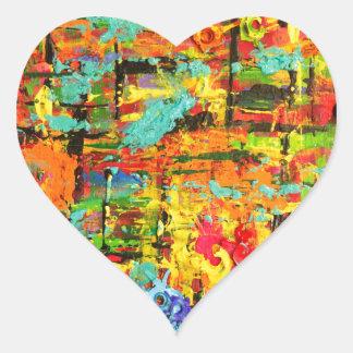 Rainbow Bullets Heart Sticker