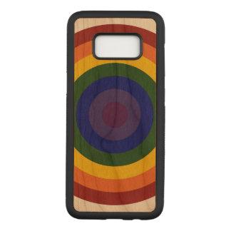 Rainbow Bullseye Concentric Circles Carved Samsung Galaxy S8 Case