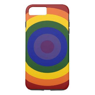 Rainbow Bullseye Pattern iPhone 8 Plus Tough Case