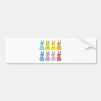 Rainbow Bunnies Bumper Sticker