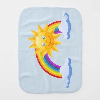 Rainbow Burp Cloth