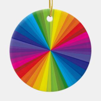 Rainbow Burst Ornament