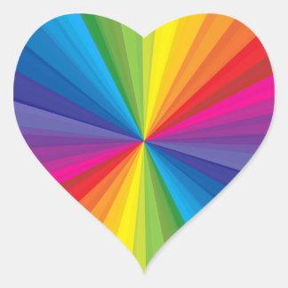 Rainbow Burst Heart Sticker