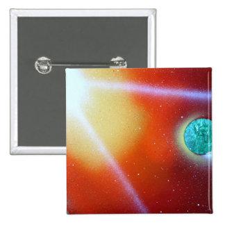 rainbow burst small planet spray painting sun pinback buttons