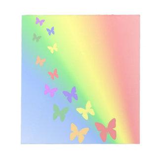 Rainbow Butterflies Notepad