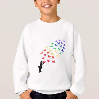 Rainbow Butterflies Sweatshirt