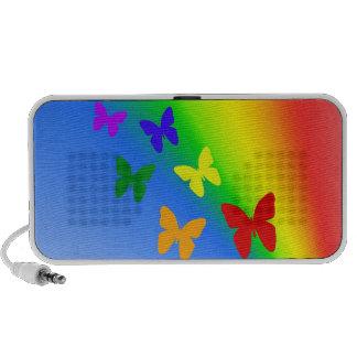 Rainbow Butterflies Travel Speakers