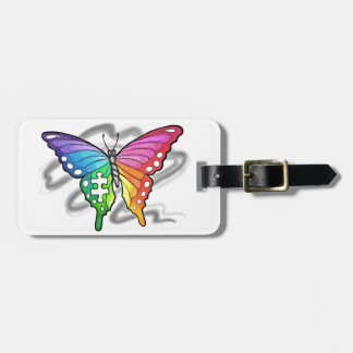 Rainbow Butterfly Bag Tag