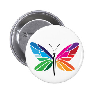 Rainbow Butterfly Buttons