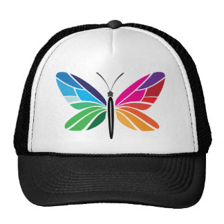 Rainbow Butterfly Cap