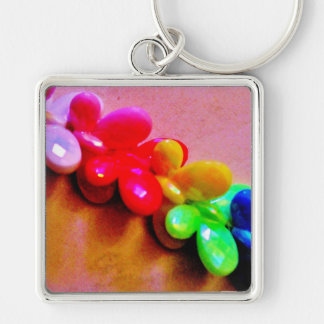 Rainbow Butterfly Necklace Key Ring