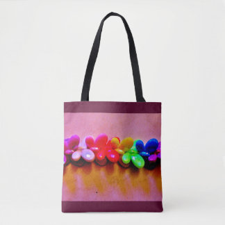 Rainbow Butterfly Necklace Tote Bag